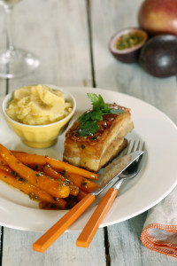 Twice Cooked Pork Belly with Passionfruit Carrots 4