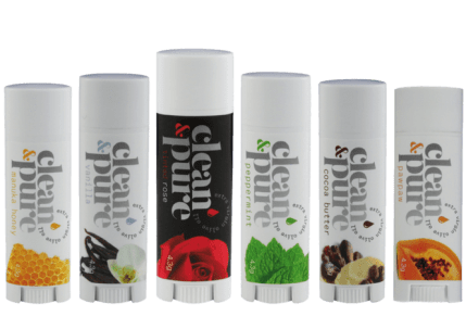 6 Clean Pure Lip Balm products