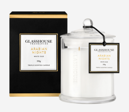 Glasshouse candle and packaging. Image from glasshousefragrances.com