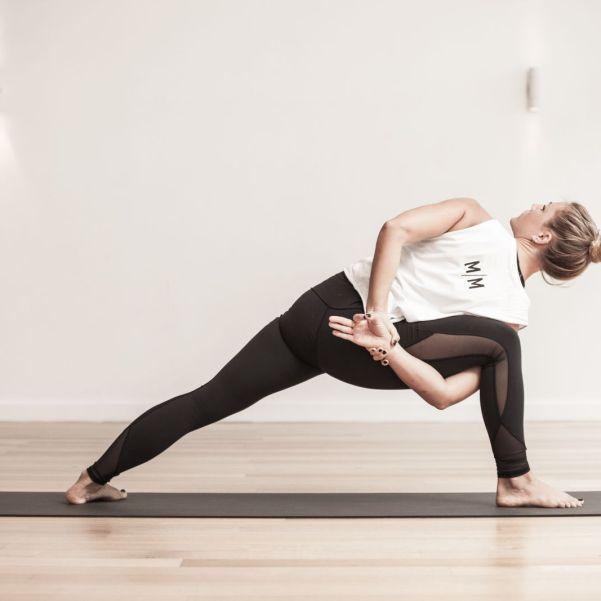 Woman doing Vinyasa Yoga
