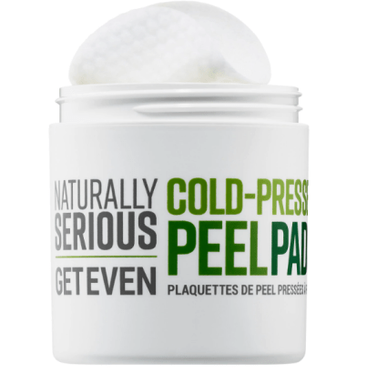 Naturally serious cold-pressed peel pads