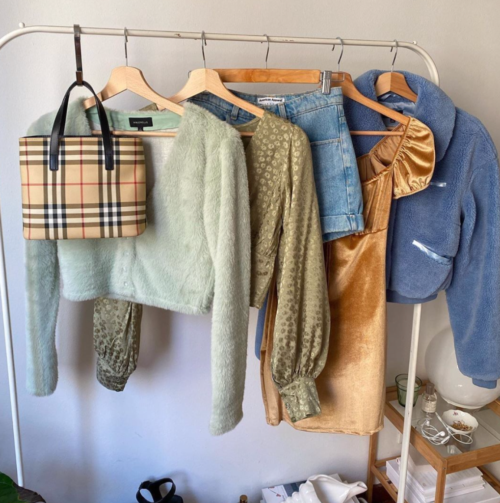 rack of vintage clothing from ASOS Marketplace