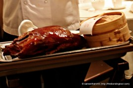 Peking Duck is usually served with Mandarin Pancakes (inside the steamer).
