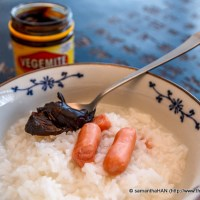 Asian Rice Porridge & Vegemite - A Suggestion For The Mouse' New Favourite Condiment