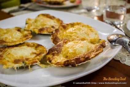 Baked Scallops with Cheese.