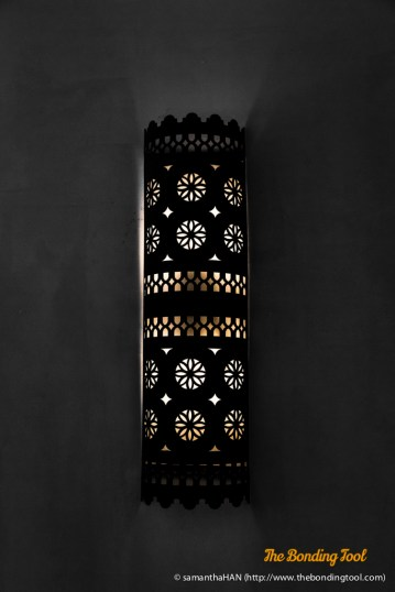 This is the dominant design for the wall lightings throughout the resort.