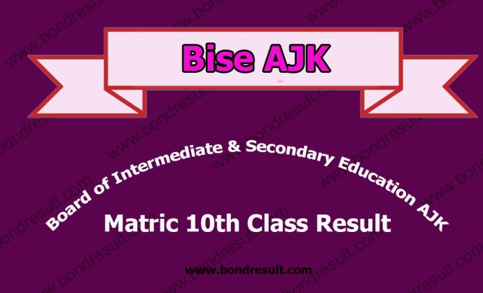 AJK BISE Mirpur Board Matric Result 2016 9th 10th Class