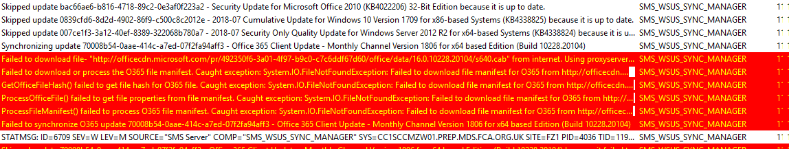 """Failed to download file- """"http://officecdn microsoft com/xxx"""