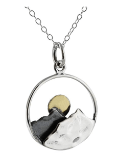 Pewter Mountain Necklace