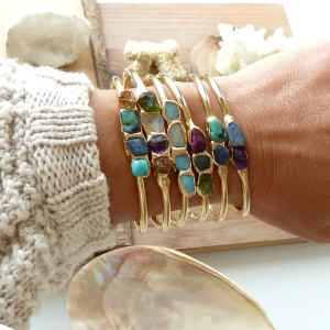 Birthstone multi layered bracelet