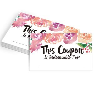 Coupon Cards Acts of Service Love Language Gift