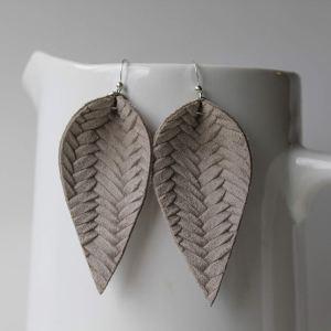 Italian Leaf Earrings