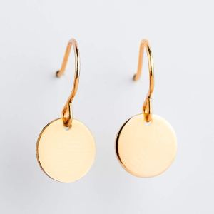 Round circle earrings