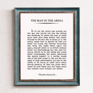 Man in the Arena Print