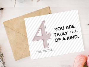 Enneagram 4 Card by Pure Endeavors