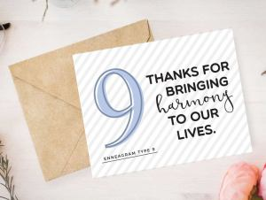 Enneagram 9 Card by Pure Endeavors