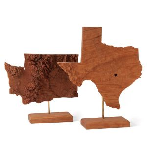 State Topography Sculpture