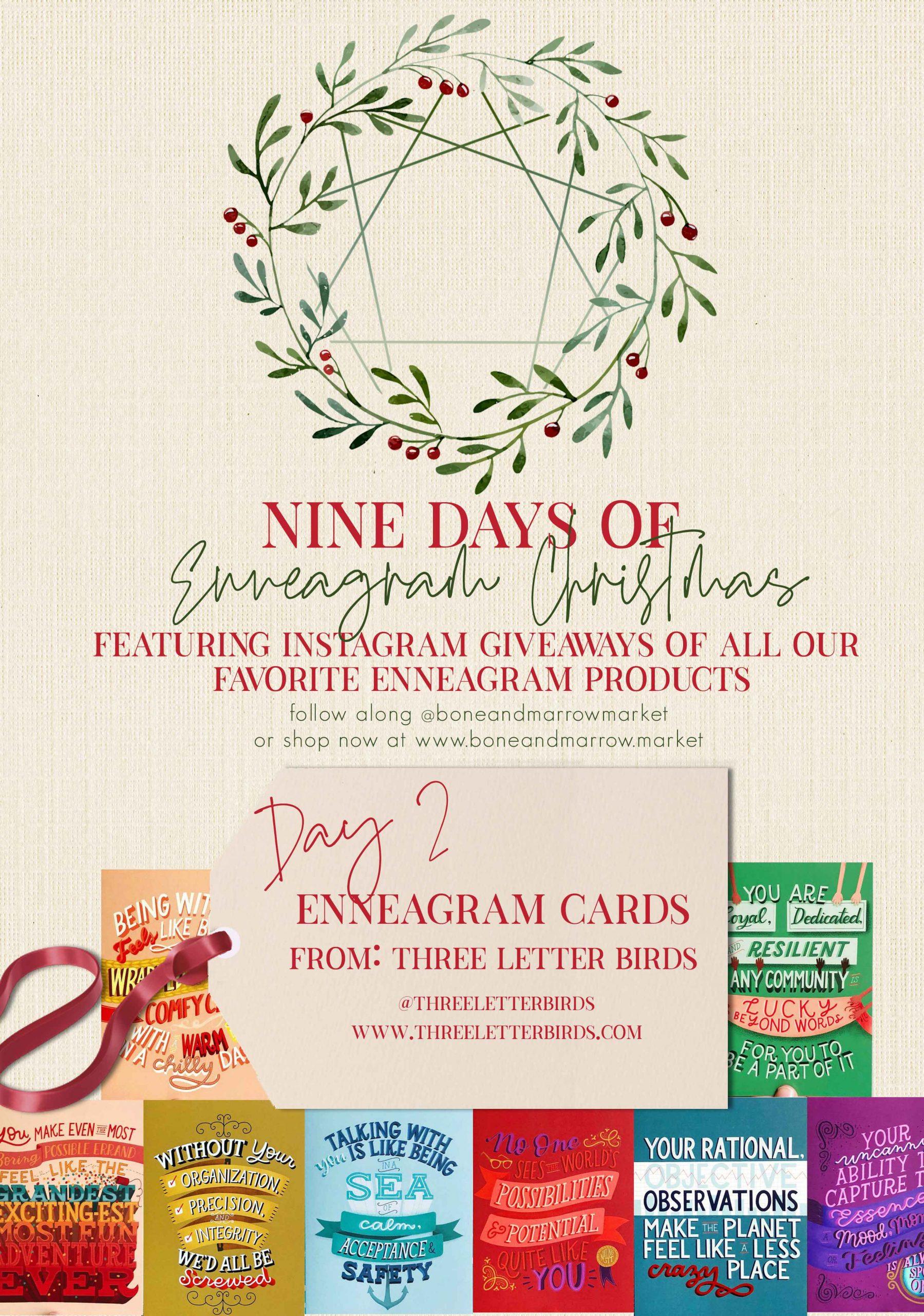 Enneagram Cards by Three Letter Birds   9 Days of Enneagram Christmas