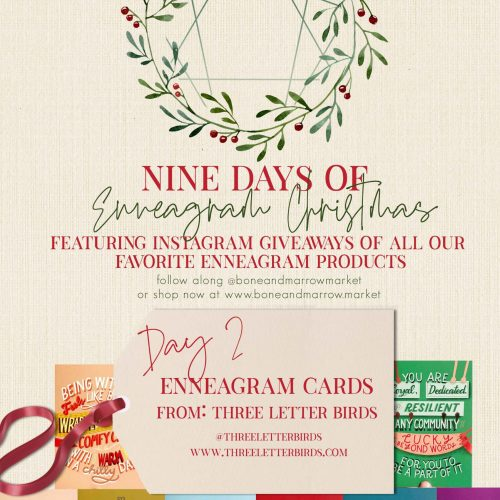 Enneagram Cards by Three Letter Birds | 9 Days of Enneagram Christmas