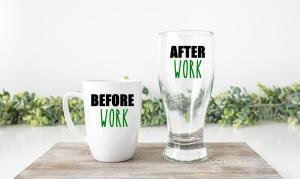 Before and After Work Mug