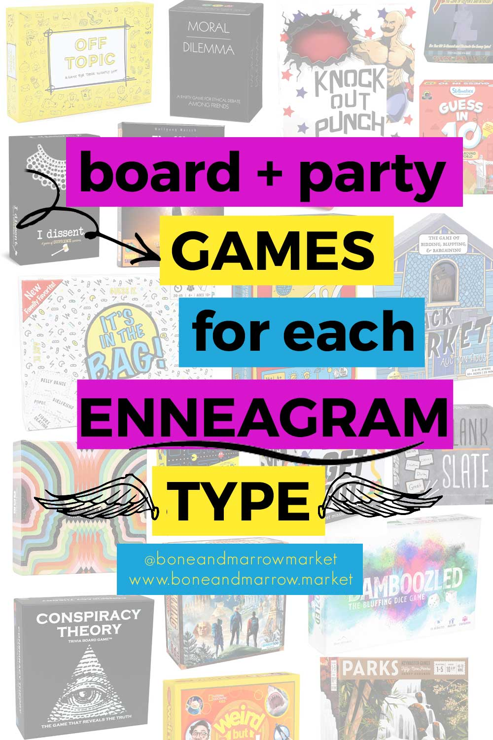 Board and Party Games by Enneagram Type