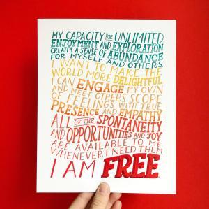 I am Free Enneagram 7 Affirmation Print