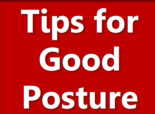 tips for good posture