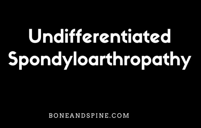 undifferentiated spondyloarthropathy image