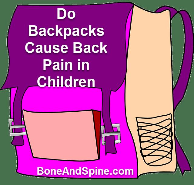 Do backpacks cause back pain children