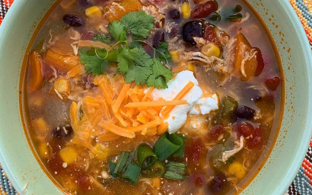Buffalo Chicken Tortilla Soup by Eats by Esther