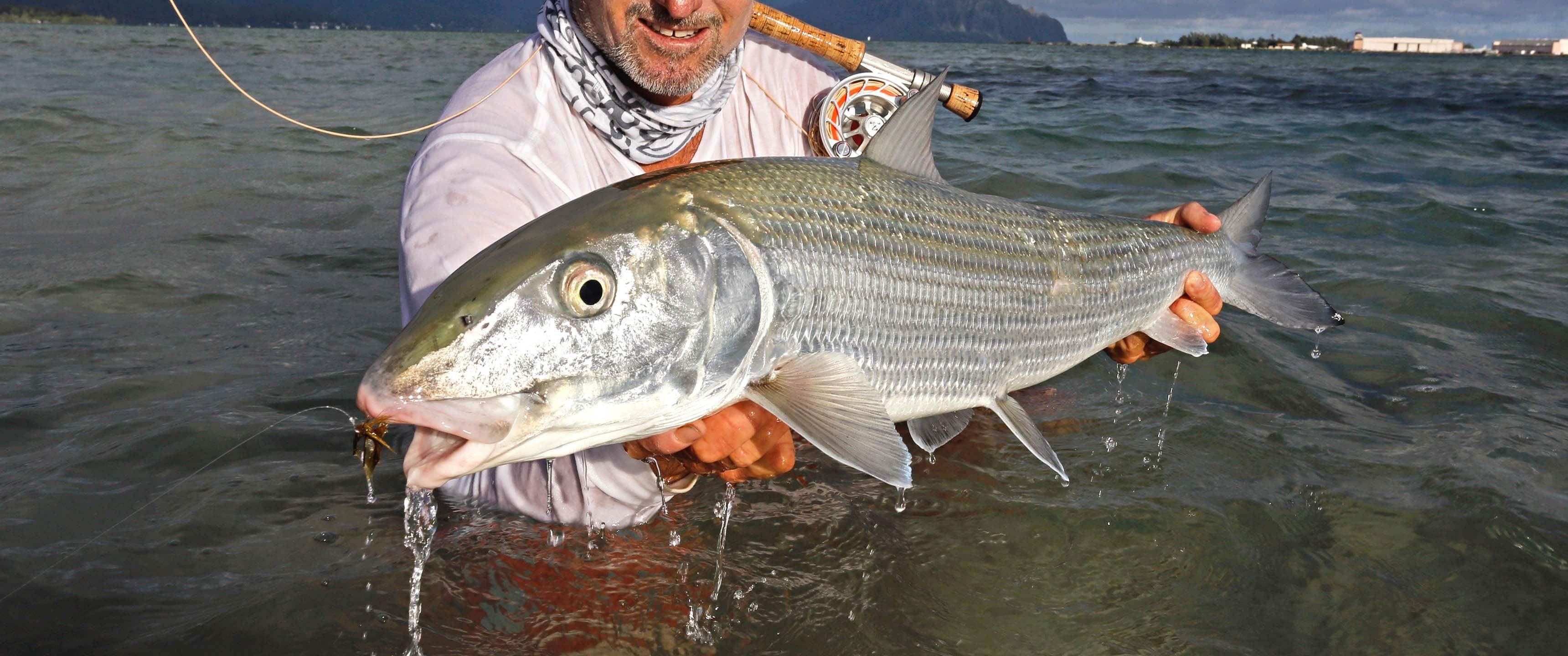 Hawaii fly fishing guide bonefish hawaii captain rick lee for Bonefish fly fishing