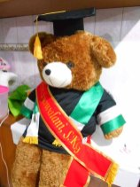 boneka wisuda beruang teddy bear jumbo 120cm bordir di selempang 3