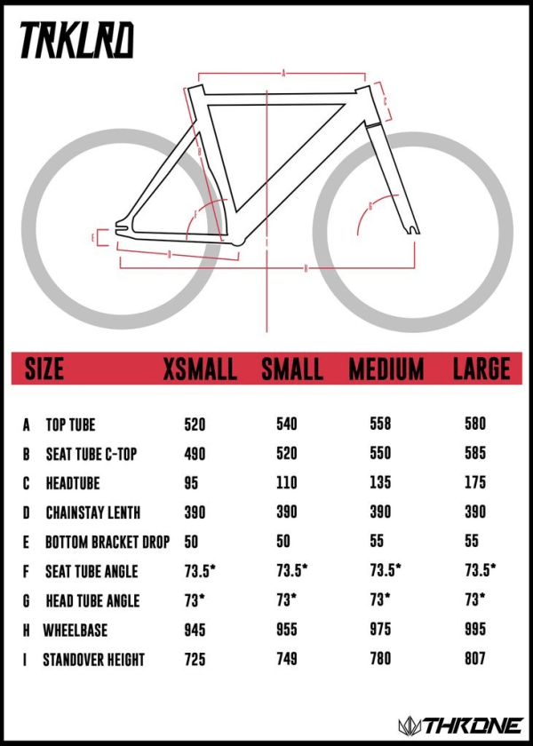 Throne Tracklord Size Specs