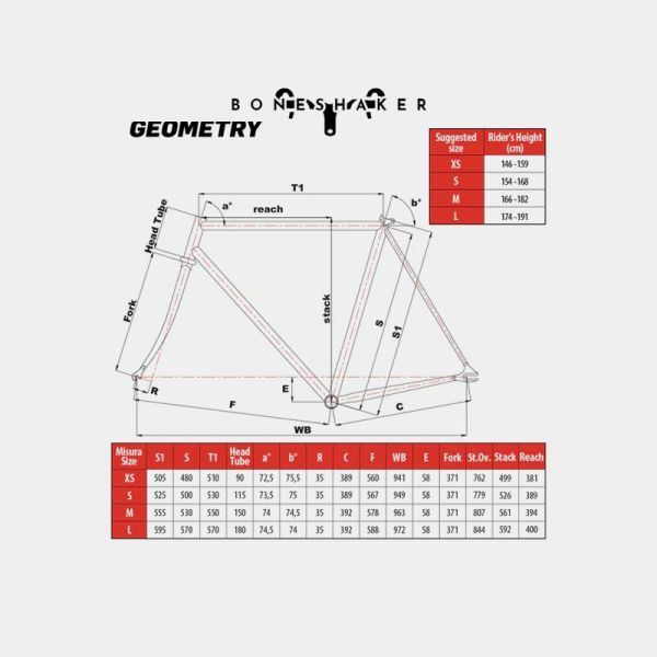 Cinelli Gazzetta Blue Complete Bike Geometry