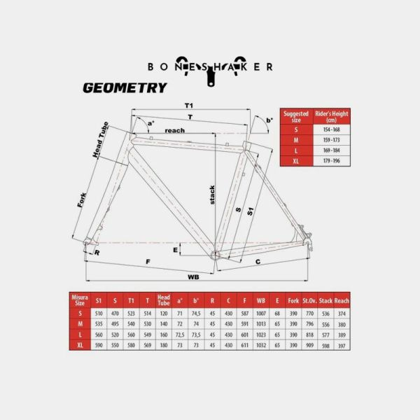 Cinelli Zydeco Complete Bike Geometry