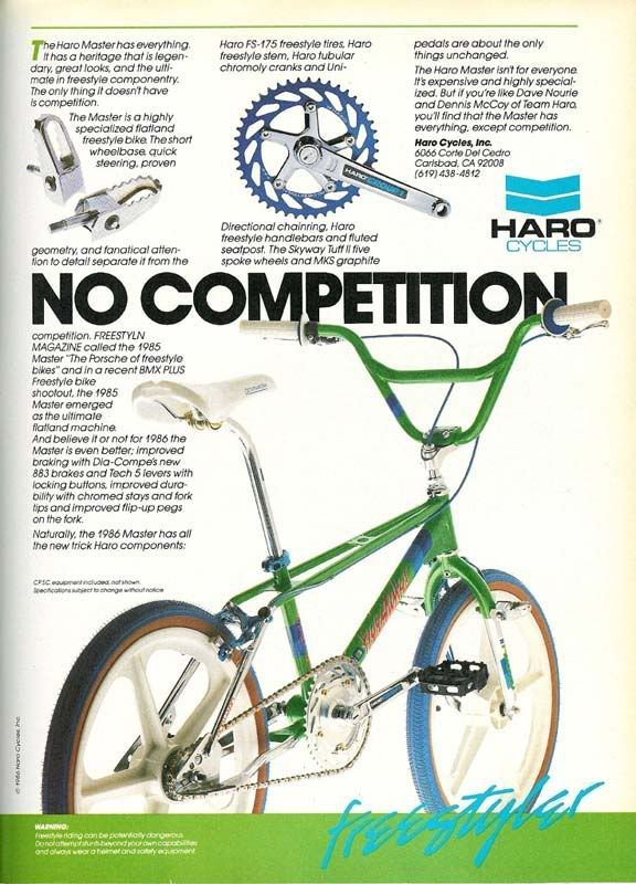 Haro bikes poster from the 80s