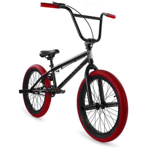 Elite BMX Stealth 20″ BMX Bike – Black Red