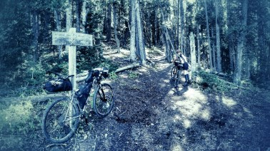 Where the langhor Climb meets the Window Rock Trail
