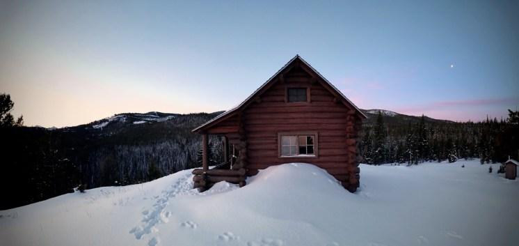 Little Bear Cabin at dawn