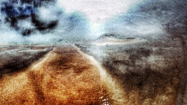 Golden river abstraction