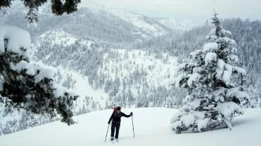 Dave skis up MidTower