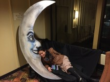 went to the moon for a secret or two, photo credit to Rabbit