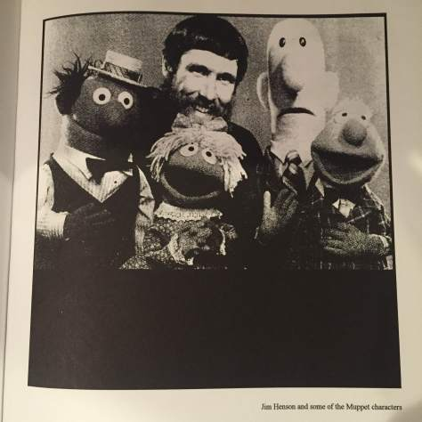 Jim Henson from inside Mary Robinette Kowal's puppetry book