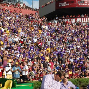 Pirate Nation made its presence known in a corner of Williams-Brice Stadium. (Photo by Al Myatt)