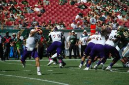 ECU quarterback Philip Nelson throws in Saturday's game at South Florida.