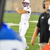 East Carolina quarterback Philip Nelson limbers up before Saturday's AAC contest at Tulsa.