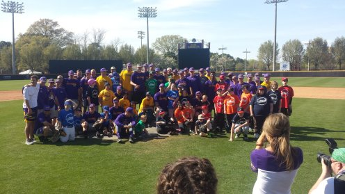 The ECU Pirates team up with the Exceptional Community Baseball League. (04.02.17 photo #1 by Brian Bailey)