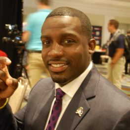 Scottie Montgomery is getting ready to embark on his second preseason camp as East Carolina coach. (Photo by Al Myatt)