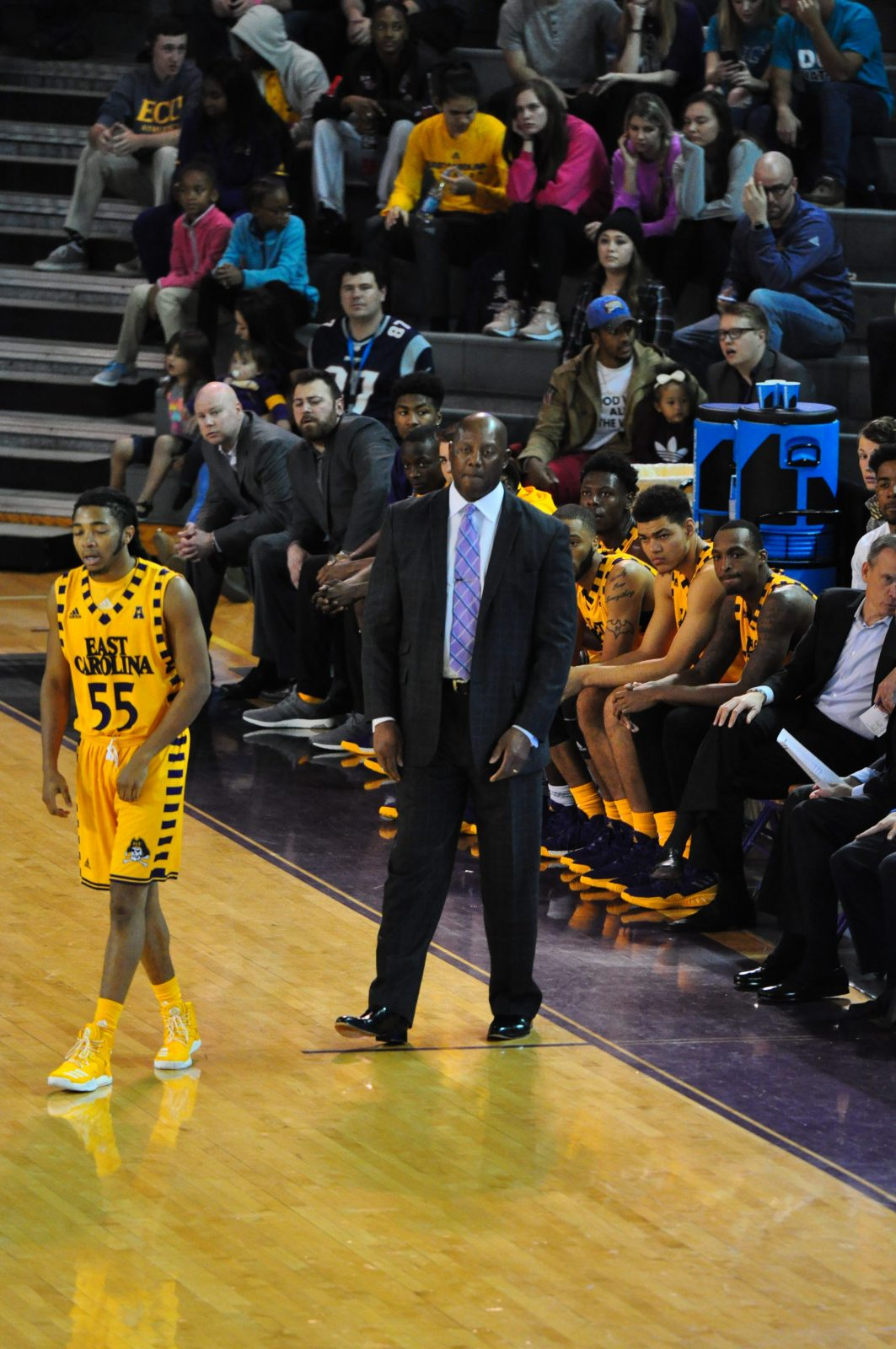 Michael Perry directs the Pirates after being named interim coach Wednesday. (Photo by Al Myatt)