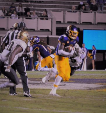 Trevon Brown had 10 catches for 145 yards with a touchdown. (Photo by Al Myatt)